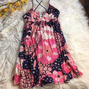 Free People | Floral Print Babydoll Dress | S